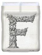 Decorative Letter Type F 1650 Duvet Cover