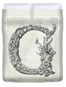 Decorative Letter Type G 1650 Duvet Cover