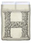 Decorative Letter Type H 1650 Duvet Cover