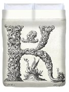Decorative Letter Type K 1650 Duvet Cover