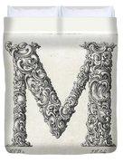 Decorative Letter Type M 1650 Duvet Cover