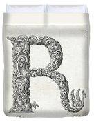Decorative Letter Type R 1650 Duvet Cover