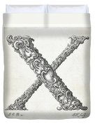 Decorative Letter Type X 1650 Duvet Cover