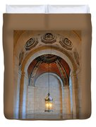Decorative Light At The New York Public Library Duvet Cover