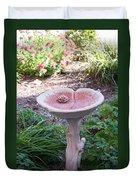 Decorative Lilypad Birdbath Duvet Cover