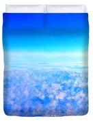Deep Blue Sky And Clouds Duvet Cover