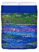 Deep Blue Texture Abstract Duvet Cover