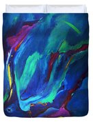 Deep Blue Thoughts Duvet Cover