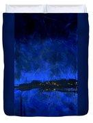 Deep Blue Triptych 2 Of 3 Duvet Cover