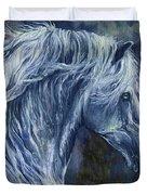 Deep Blue Wild Horse Duvet Cover