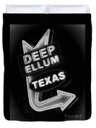 Deep Ellum Black And White Duvet Cover