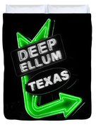 Deep Ellum In Green Duvet Cover