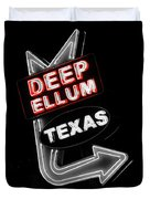 Deep Ellum In Red Duvet Cover