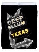 Deep Ellum In Yellow Duvet Cover
