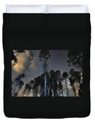 Deep Forest At Night Duvet Cover