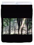 Deep Forest Morning Light Duvet Cover