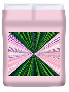 Deep Green And Pink Duvet Cover