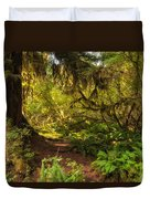 Deep Into The Hoh Rain Forest Duvet Cover