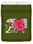 Deep Pink Rose - Summer - Rosebuds Duvet Cover