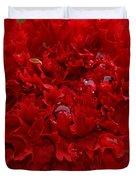 Deep Red Carnation 2 Duvet Cover