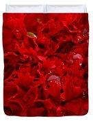 Deep Red Carnation Duvet Cover