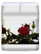Deep Red Roses Duvet Cover