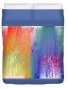 Deep Rich Sherbet Abstract Duvet Cover
