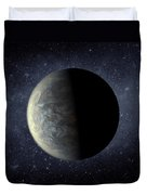 Deep Space Planet Kepler-20f Duvet Cover by Movie Poster Prints