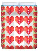 Deeply In Love Cherryhill Flower Petal Based Sweet Heart Pattern Colormania Graphics Duvet Cover