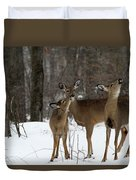 Deer Affection Duvet Cover