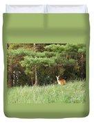Deer At Dusk V1 Duvet Cover