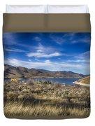 Deer Creek Dam-provo Utah Duvet Cover