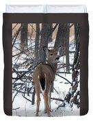 Deer In The Grove Duvet Cover