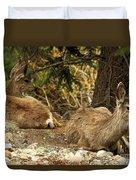 Deer In The Rockies Duvet Cover