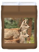 Deer In The Rocky Mountains Duvet Cover