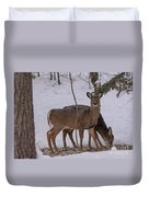 Deer In The Trees Duvet Cover