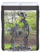 Deer Sculpture Duvet Cover