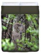Deer Through The Trees Duvet Cover