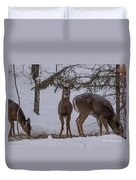 Deer With A Leg Up Duvet Cover