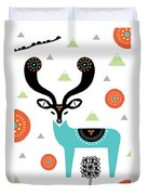 Deery Mountain Duvet Cover