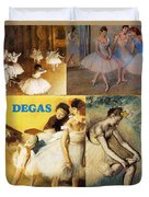 Degas Collage Duvet Cover by Philip Ralley