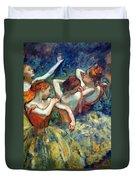 Degas' Four Dancers Up Close Duvet Cover
