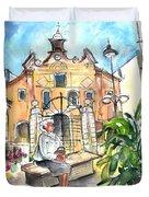 Del Carmen Church In Cartagena Duvet Cover