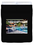 Del Marcos Pool Palm Springs Duvet Cover