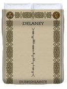 Delaney Written In Ogham Duvet Cover