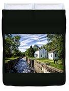 Delaware Canal Kingston New Jersey Duvet Cover
