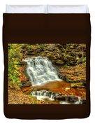 Delaware Falls - Ricketts Glen Duvet Cover