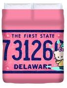 Delaware License Plate Duvet Cover