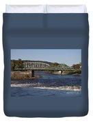 Delaware River Easton Pennsylvania Duvet Cover