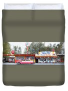 Delgadillo's Snow Cap Drive-in On Route 66 Panoramic Duvet Cover